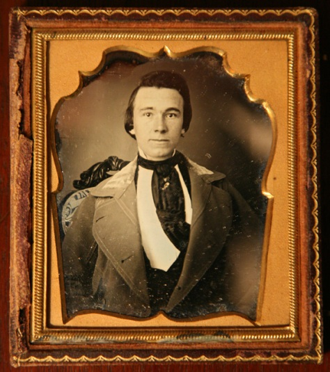 Anonymous Gentleman. Daguerreotype, Half case.