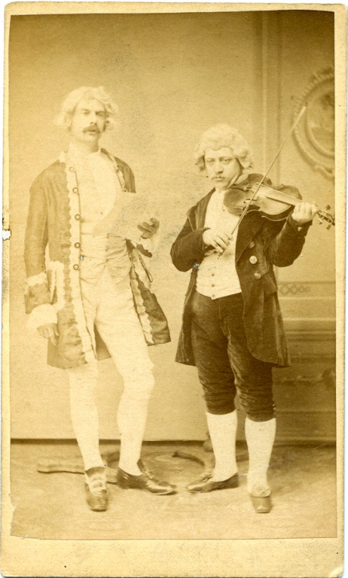 Two actors in costume by Chas. H. Spieler, Philadelphia