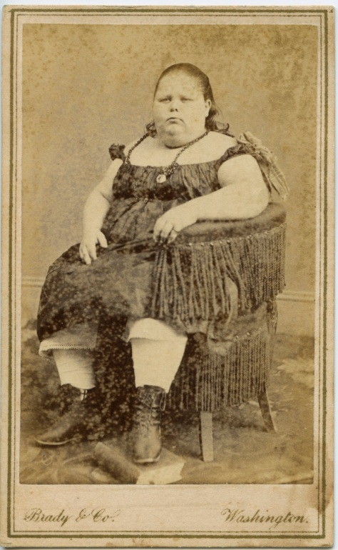 Circus Fat Lady by Mathew Brady, Washington DC