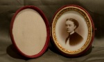 Ninth-plate milk-glass Ambrotype, anonymous girl