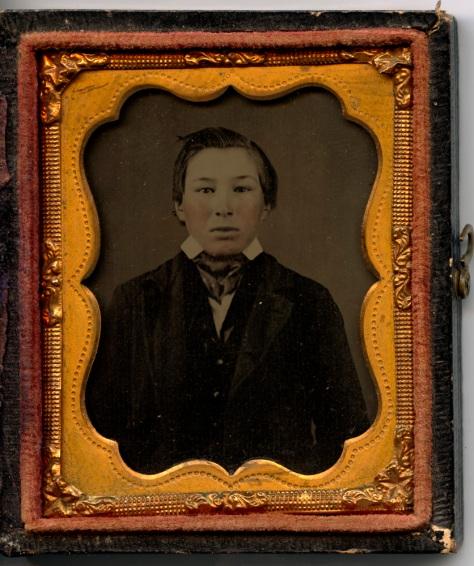 Ambrotype, Penobscot Boy, 1857