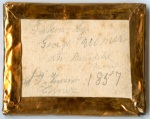 Packet Inscription - Taken By George Kilmer, Thorndike, Maine T & Harrison Corner, 1857