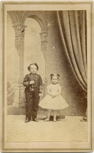 Commodore Nutt and unknown little woman, Anonymous CDV (probably Brady)