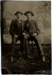 Tintype, Two Affectionate Pals (Brothers?)
