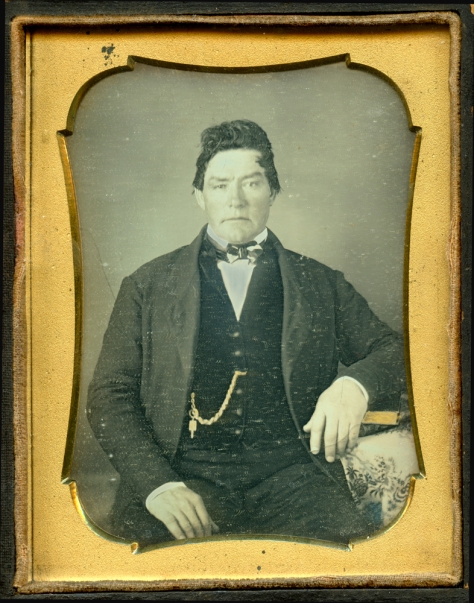Anonymous Daguerreotype, Quarter-Plate, in half case