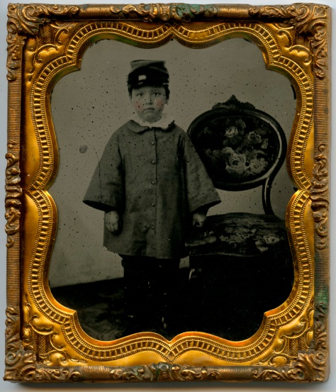Fred Jones, 1861, framed black glass Ambrotype