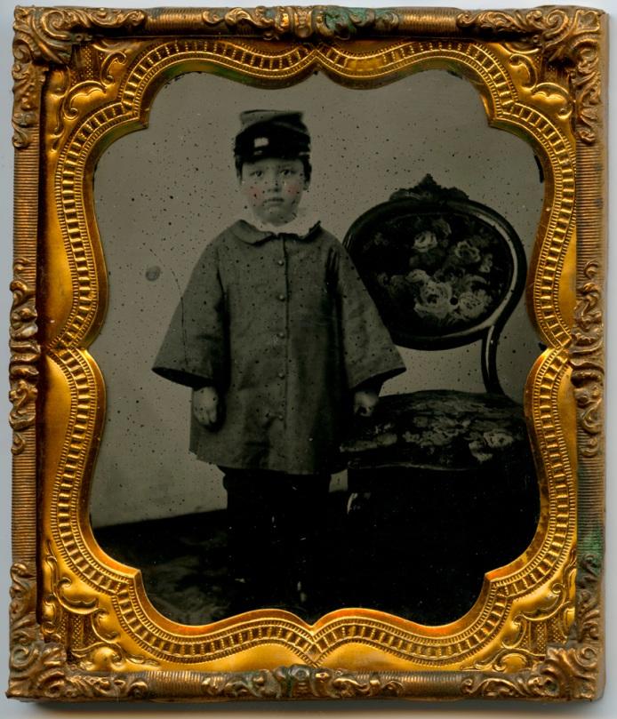 Fred Jones, 1861, framed black glass Ambrotype