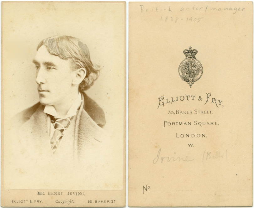 Carte De Visite, Henry Irving, British Actor, by Elliot & Fry
