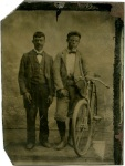 Tintype, Two Men and a Bicycle