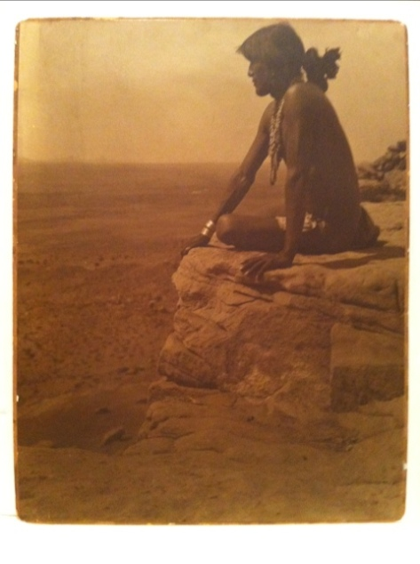 Navajo Brave, Grand Canyon, attributed to Karl Moon