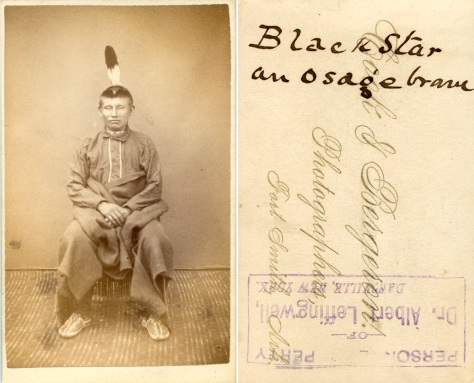 Black Star, an Osage Brave ca 1882