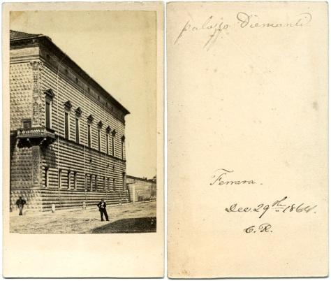 Palazzo Diamantini, Ferrara, December 29, 1864