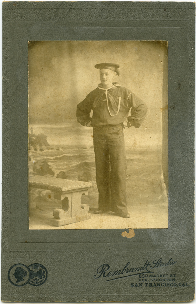 Sailor, 1890s, Rembrandt Studio, San Francisco