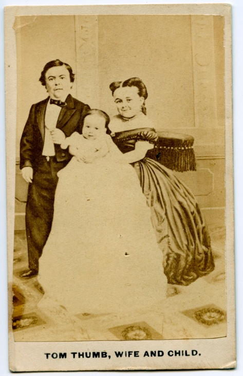 "Tom Thumb, Wife and ""child"""
