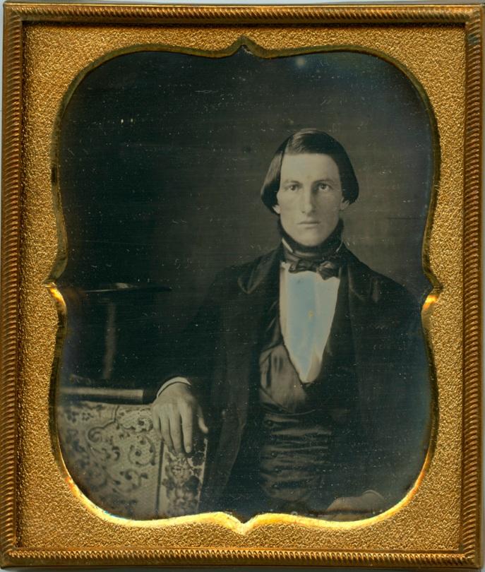 Gentleman With Top Hat, dated October 15, 1849