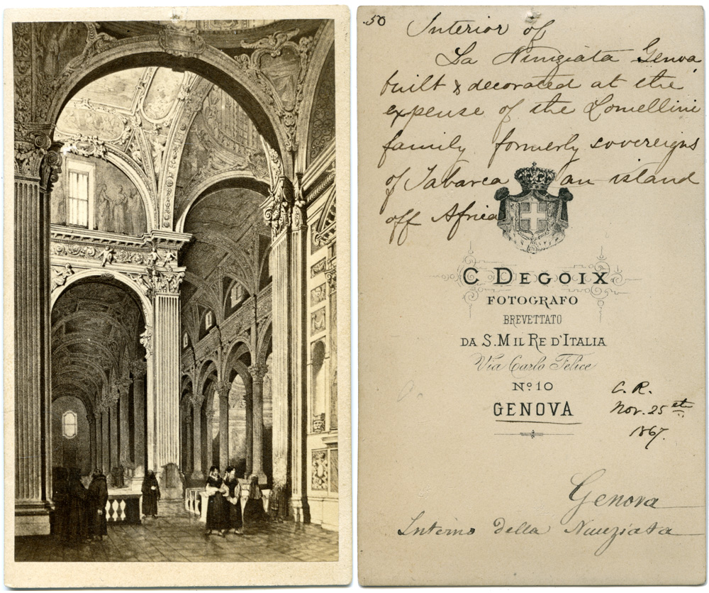 Interior of La Nunziata, Genova, November 25, 1867