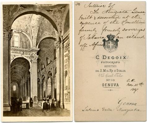 Interior of La Nunziata, Genova, November 25, 1867