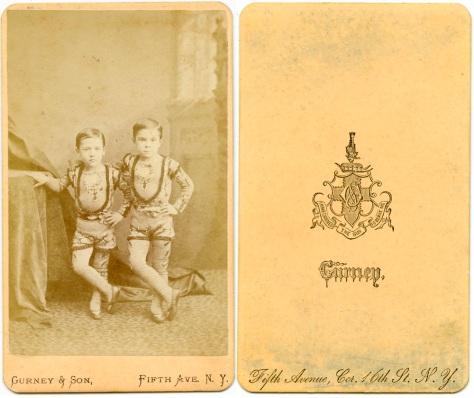 Circus Siblings, Gurney & Son, New York
