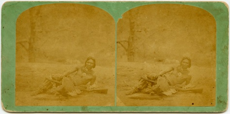Chief Standing Buffalo, of the Winnebago tribe, copy stereoview