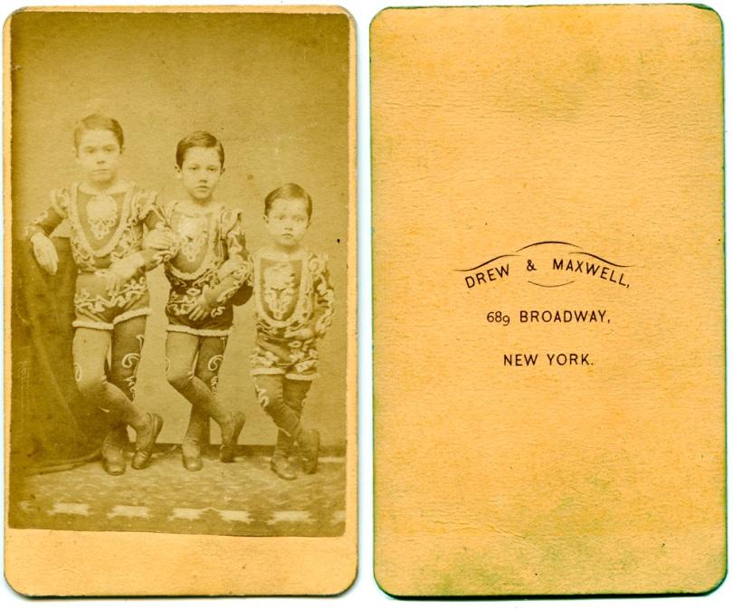 Trio of Boy Acrobats, by Drew & Maxwell
