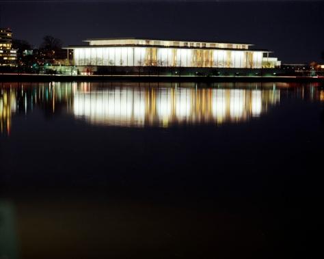 Kennedy Center, Potomac River, Night