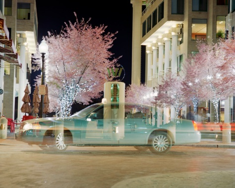 Washington Harbor, Cherry Blossoms, Taxi