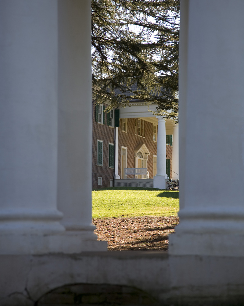 Front Porch, Montpelier, from Madison's Temple