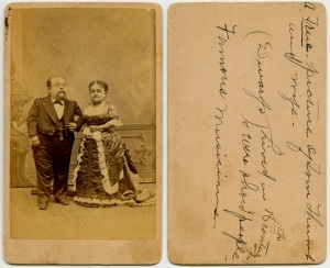 Tom Thumb and Minnie Warren, in their advancing years