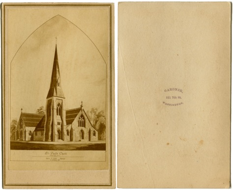 Architectural rendering, St. Paul's Church, Washington DC by Alexander Gardner