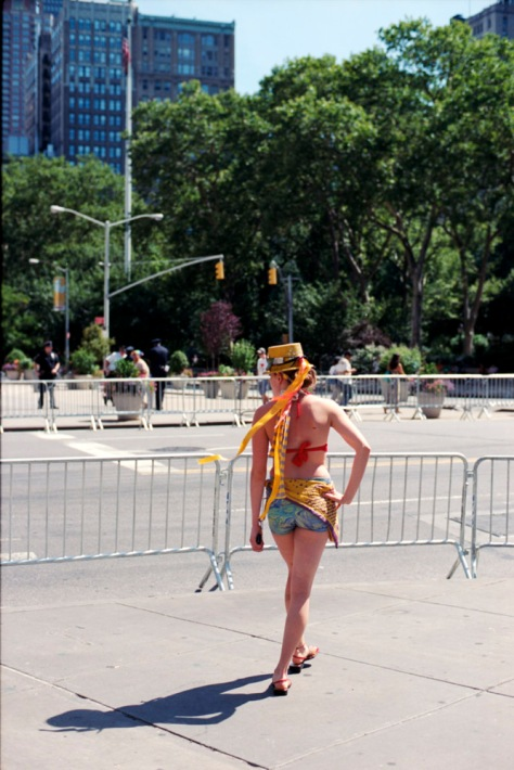 Girl with a fancy hat, NY Pride 2012