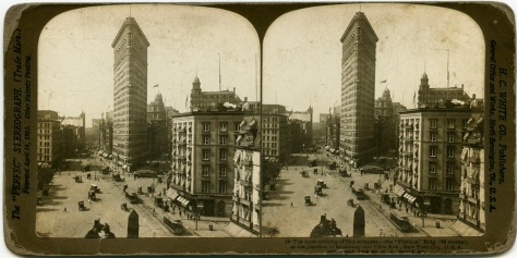 The Flatiron, looking South from Broadway at Madison Square Park