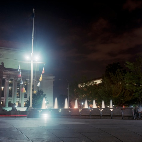 National Archives and the Navy Memorial, Young Couple, Nightfall