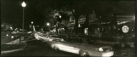Taxi, Northbound on Connecticut at Dupont Circle, Night