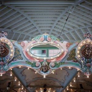 Mirror and roof vaulting, Glen Echo Dentzel Carousel