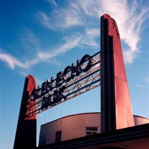 Glen Echo Park Sign, Evening