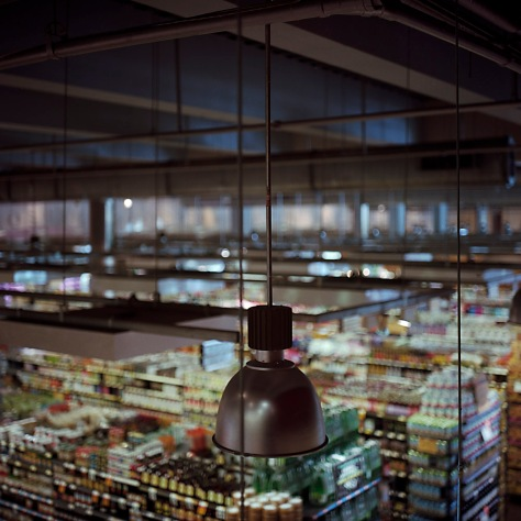 Lamp, overhead view, Whole Foods P Street