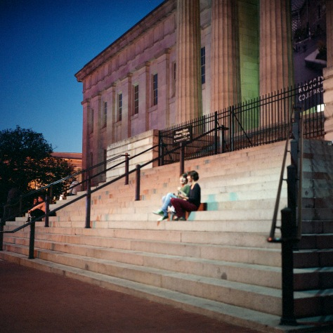 Portrait Gallery Steps, Twilight