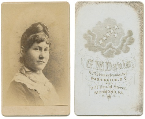 Anonymous Lady, by Davis of DC and Richmond