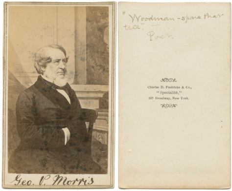 George Pope Morris, Poet and Publisher, by C.D. Fredricks