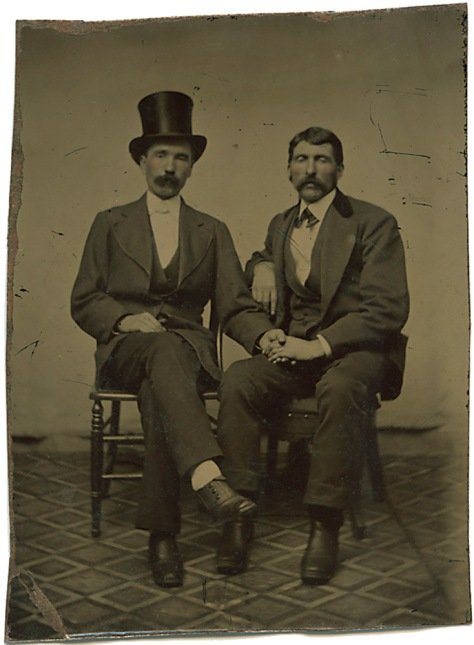 Two Affectionate Gentlemen, Tintype
