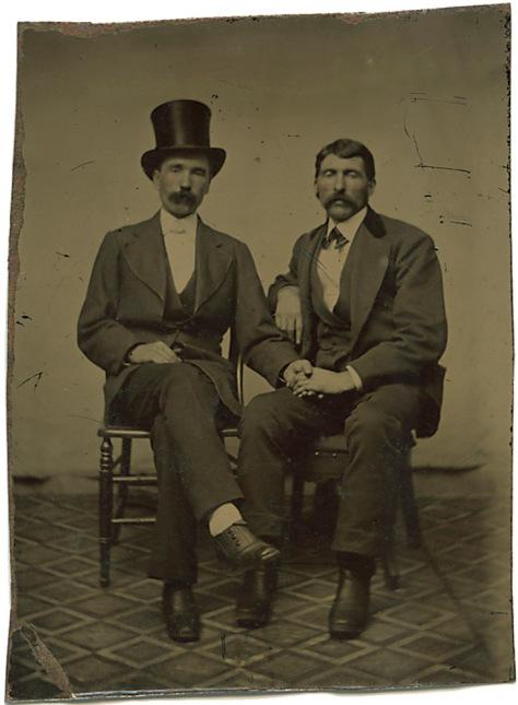 Two Affectionate Gentlemen, Tintype