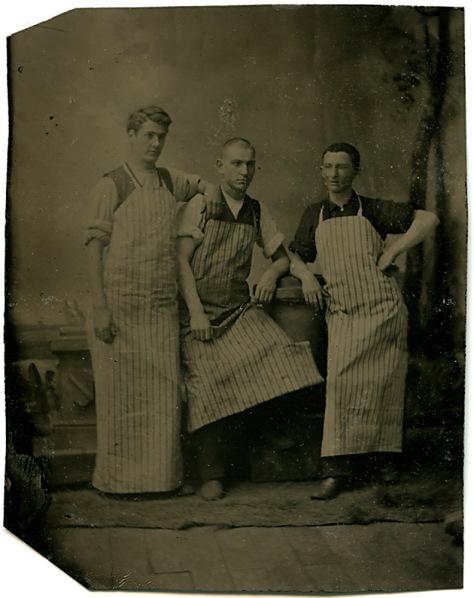 Occupational Trio, Cased Tintype ca. 1865