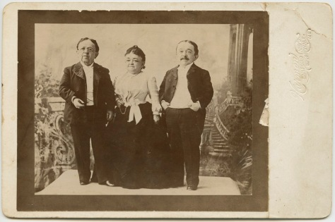 The Magri Brothers with Lavinia Warren, ca. 1895