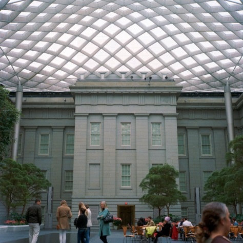 Kogod Courtyard, West View, Day