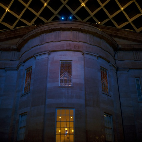 Kogod Courtyard, South Facade, Night