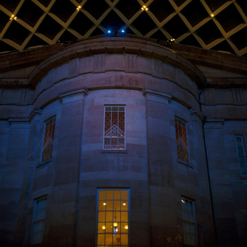 Kogod Courtyard, South Facade, Night