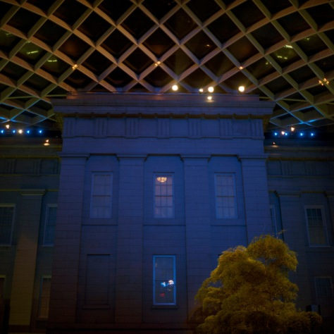 Kogod Courtyard, West Facade, Night