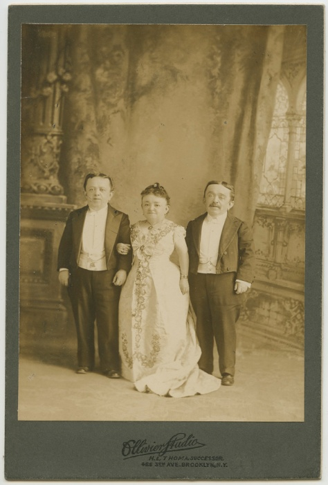 Lavinia Warren Stratton Magri and the Magri Brothers, by Ollivier