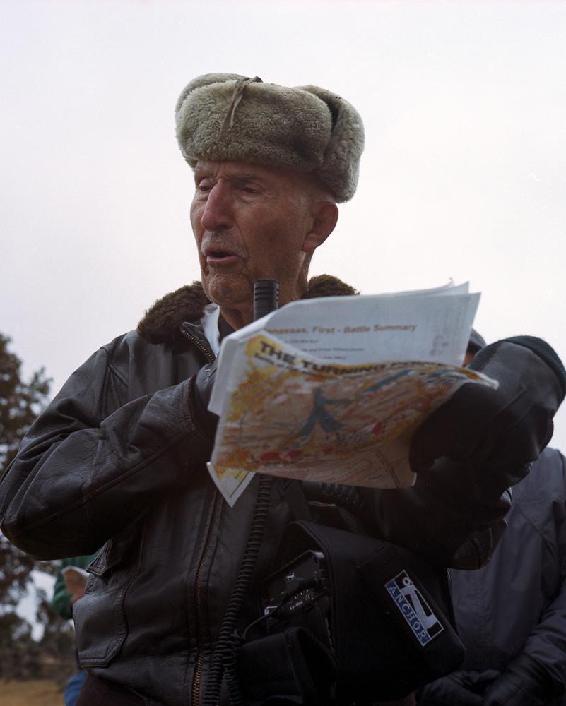 Ed Bearss with Battlefield Map