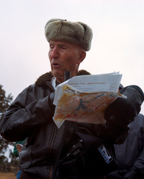 Ed Bearss with Battlefield Map